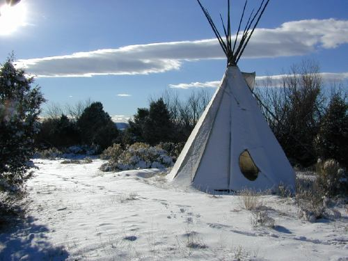 tipi in San Cristobal, New Mexico