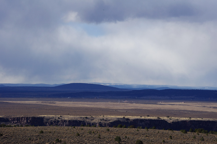 Looking west across the Rio Grande Gorge