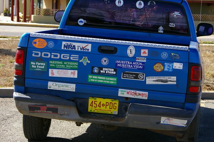 Taos bumper sticker quiz