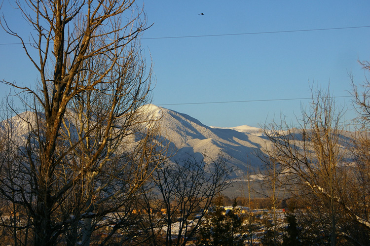 Taos Mountain in late afternoon