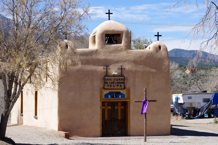 San Juan de Los Lagos church in Talpa, south of Taos, NM