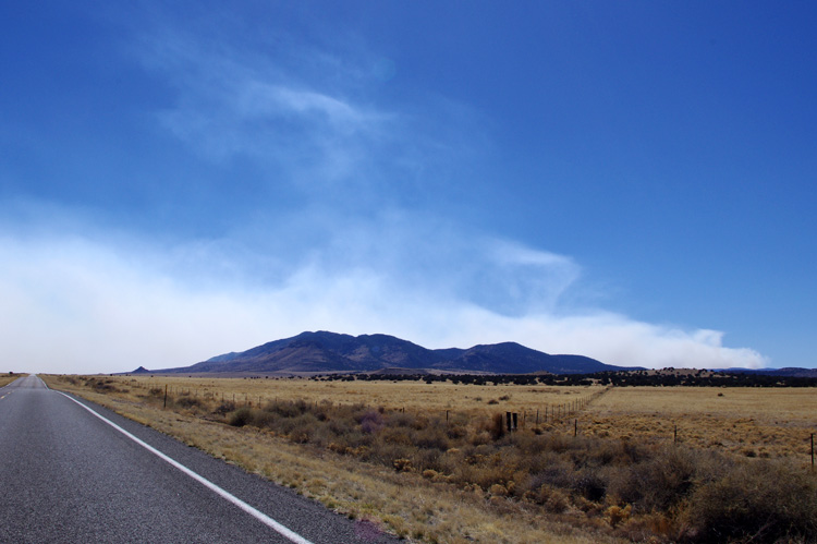 forest fire in southwest New Mexico