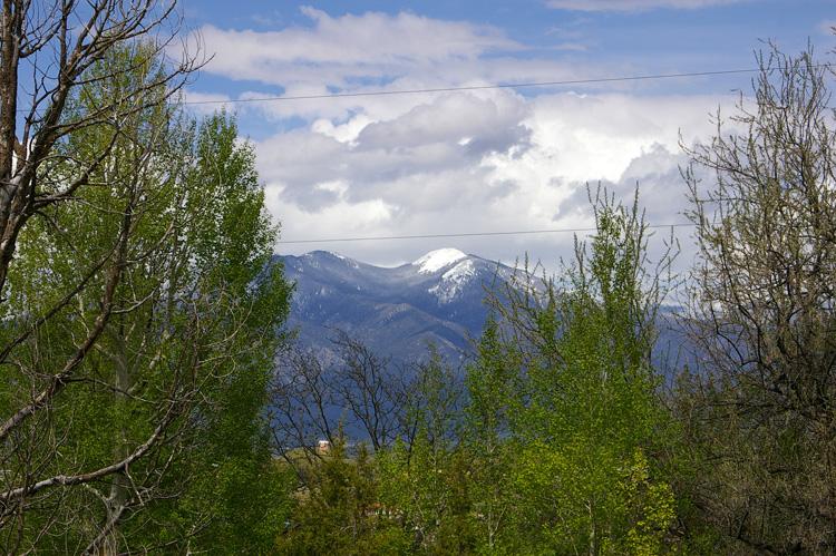 Taos Mountain with fresh snow