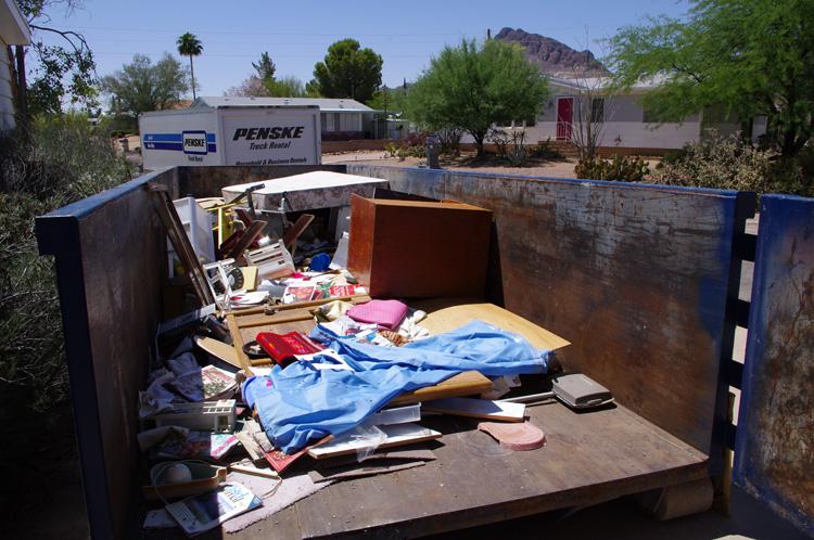 Tucson dumpster