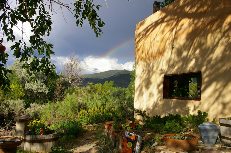 A fine lovely evening in an old Taos setting