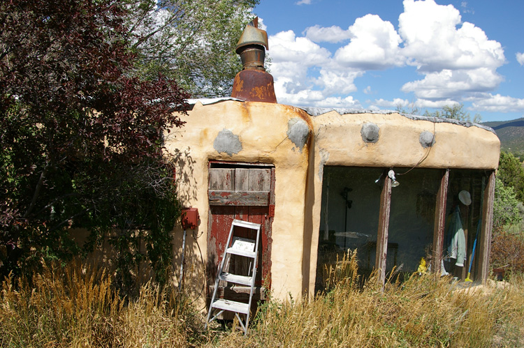 Our dead landlord's apartment in Taos, New Mexico