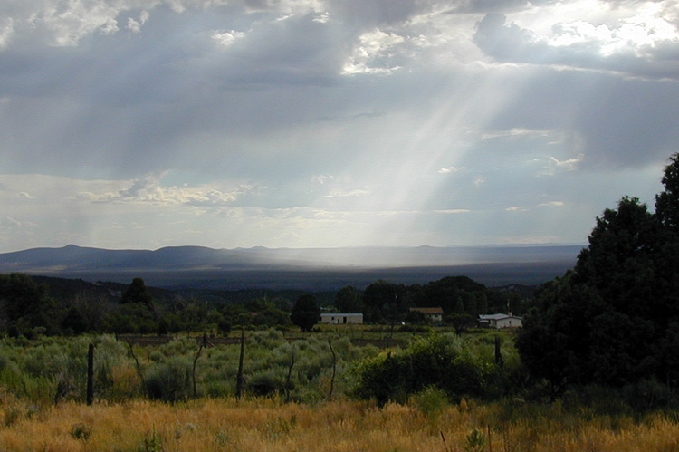 Looking west from San Cristobal, New Mexico