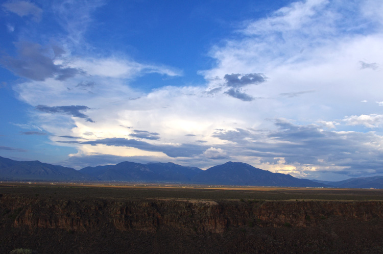 View to the east from vicinity of the Rio Grande Gorge Bridge, Taos, NM